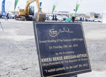 Cenpower Generation and its Partners break ground for a 350MW Power Plant in Ghana