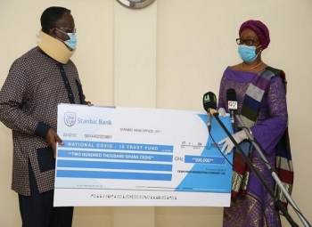Cenpower donates GHS 200,000 to National COVID-19 Trust Fund